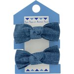 Small elastic bows light denim - PPMC