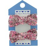 Mousse petit noeud lichen prune rose - PPMC