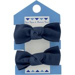 Small elastic bows navy blue - PPMC