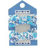 Small elastic foam bows azure mini flower - PPMC
