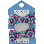 Mousse petit noeud provence violet turquoise - PPMC