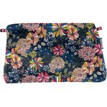 Coton clutch bag pink blue dalhia - PPMC
