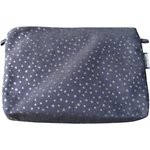 Coton clutch bag silver star jeans - PPMC