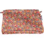 Pochette coton floral pêche - PPMC