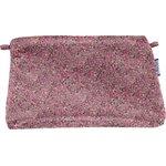 Pochette coton lichen prune rose - PPMC