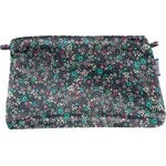 Coton clutch bag green azure flower - PPMC