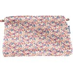 Coton clutch bag carnations jeans - PPMC