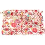 Coton clutch bag flowers origamis  - PPMC