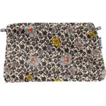 Coton clutch bag ochre flower - PPMC