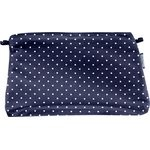Coton clutch bag navy blue spots - PPMC