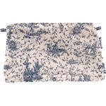 Pochette coton  toile de jouy marine - PPMC