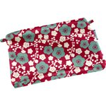 Mini pochette coton cerisier rubis jade - PPMC