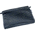 Tiny coton clutch bag etoile or marine  - PPMC