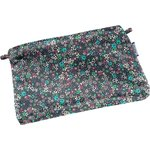 Tiny coton clutch bag green azure flower - PPMC