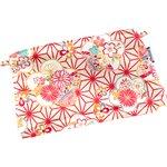 Mini pochette coton   origamis fleuris - PPMC