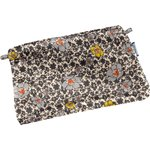Tiny coton clutch bag ochre flower - PPMC