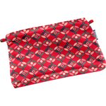 Tiny coton clutch bag paprika petal - PPMC