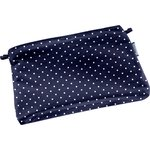 Tiny coton clutch bag navy blue spots - PPMC
