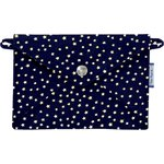 Little envelope clutch navy gold star - PPMC