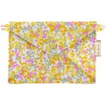 Little envelope clutch mimosa jaune rose - PPMC