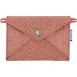 Little envelope clutch mini pink flower - PPMC
