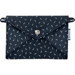 Little envelope clutch silver straw jeans - PPMC
