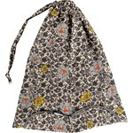 Lingerie bag ochre flower - PPMC