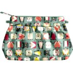 Pleated clutch bag animals cube - PPMC