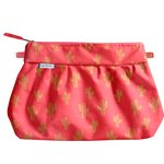 Pleated clutch bag gold cactus - PPMC