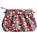 Pleated clutch bag ruby cherry tree - PPMC