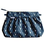Pleated clutch bag blue elephant - PPMC