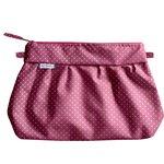 Pleated clutch bag etoile or fuchsia - PPMC