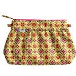 Pleated clutch bag pop flower - PPMC