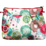 Pleated clutch bag powdered  dahlia - PPMC