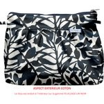 Pleated clutch bag chinese ink foliage  - PPMC