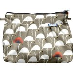 Pleated clutch bag flamingo - PPMC