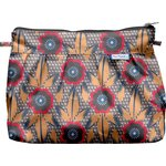 Pleated clutch bag fleurs de savane - PPMC