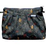 Pleated clutch bag jungle party - PPMC