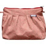 Pleated clutch bag mini pink flower - PPMC