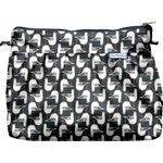 Pleated clutch bag black-headed gulls - PPMC
