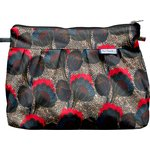 Pleated clutch bag royal poppy - PPMC