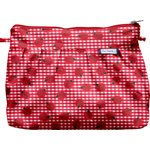 Pleated clutch bag ladybird gingham - PPMC