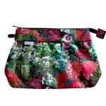 Pleated clutch bag flowered garden - PPMC