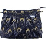 Pleated clutch bag kokeshis marine or  - PPMC