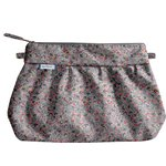 Pleated clutch bag flowery liana - PPMC