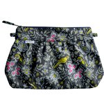 Pleated clutch bag night of birds - PPMC