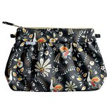 Pleated clutch bag lyrebird - PPMC