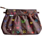 Pleated clutch bag multicolored butterfly - PPMC