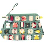 Mini Pleated clutch bag animals cube - PPMC
