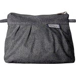 Mini Pleated clutch bag silver gray - PPMC